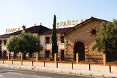 Bodega Franco Espanolas - typical winery in Rioja — Stock Photo