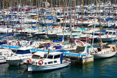 Many yachts lying at Port of Alicante, Spain — Stock Photo