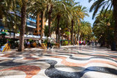 Pavement embankment in Alicante — Stock Photo
