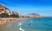 Mediterranean  beach in Alicante, Spain — Stock Photo