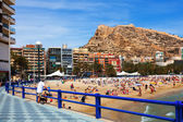 Spring view of coast in Alicante, Spain — Stock Photo