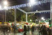 Fira de Santa Llucia - Christmas market near Cathedral. — Foto de Stock