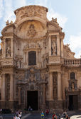 Cathedral Church of Saint Mary in Murcia.  Spain — Stock Photo