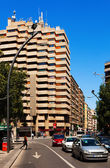 Wide modern street in Spanish city. Murcia — Stock Photo