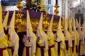Night duringon Holy Week in Murcia — Stock Photo