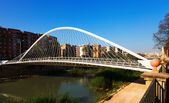 Puente de Vistabella over Segura river in sunny day. Murcia — Stock Photo