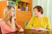 Two women sharing bad news — Stock Photo