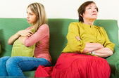 Mother and daughter after a quarrel — Stock Photo