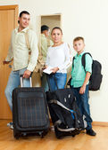 Family going for the vacation — Stock Photo