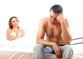 Depressed husband with problem — Stock Photo