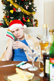 Sick young man with hungover — Stock Photo