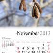 Royalty-Free Stock Photo: 2013 Calendar. November