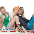 Teenagers cheerfully play — Stock Photo #13495834
