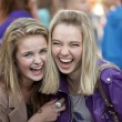 Stock Photo: Two cheerful girls