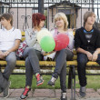 Friends with balloons — Stock Photo #13496090