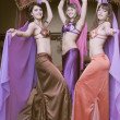Stock Photo: Three dancers oriental dance