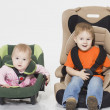 Baby in car seat — Stock Photo #13496497
