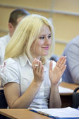 Students in a lecture — Stock Photo