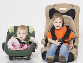 Baby in car seat — Stockfoto
