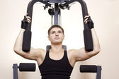 Exercise on a simulator — Stock Photo