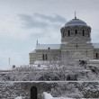 Cathedral in winter, St. Vladimir's Cathedral, Chersonese, Sevastopol, Ukraine — Stock Video