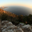 Royalty-Free Stock Photo: Fisheye view from the mountains to the Black Sea Crimea, Ukraine