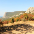 View from the mountains to the Black Sea Crimea, Ukraine — Stock Photo