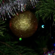Stock Video: Christmas tree twinkle lights