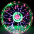 Colorful plasma ball, timelapse — Stock Video