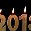 Happy New Year 2013, candles burning, time lapse — Stock Video