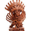 Wooden statue of the Hindu god on the white background — Stock Photo