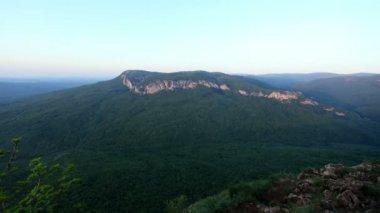 Timelapse sunset in the mountains. Crimea, Ukraine — Stock Video