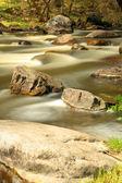 Waterfall on the River Mountain Tikich. — Stock Photo