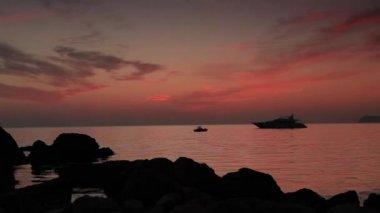 Timelapse sunset on the sea. Crimea, Ukraine. FULL HD — Stock Video
