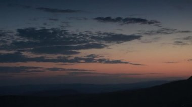 Timelapse sunrise in the mountains. Balaklava, Crimea, Ukraine. FULL HD — Stock Video