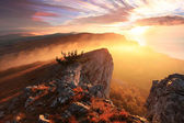 Sunrise in the mountains Ai-Petri. — Stock Photo