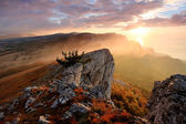 Sunrise in the mountains Ai-Petri. Alupka, Crimea, Ukraine — Stock Photo