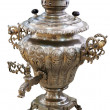 Old Russian samovar on white background, isolated — Stock Photo
