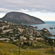 Stock Photo: Vineyard and villages in coast