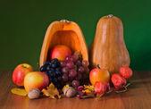 Still life of autumn fruits — Stock Photo