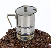 Coffee-machine with coffee-bean — Stock Photo