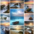 Seascape collection — Stock Photo