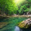 River deep in mountain - Stock Photo
