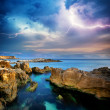 Rocks and sea storm. - Stock Photo