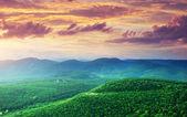 Green mountains hills — Stock Photo