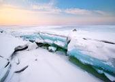 Ice and horizon. — Stock Photo