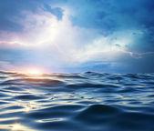 Storm on the sea. — Stock Photo