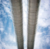 Pipes to sky — Stock Photo