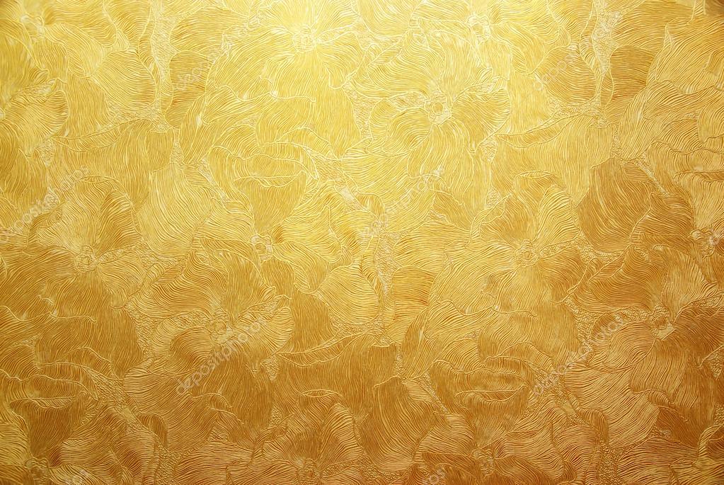 Открытка с золотым фоном 252