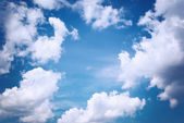 Deep blue sky — Stock Photo